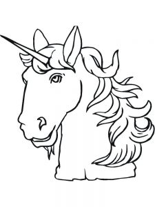 unicorn rainbow coloring pages printable