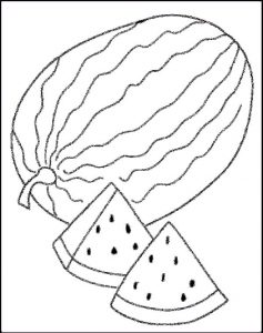 watermelon coloring pictures
