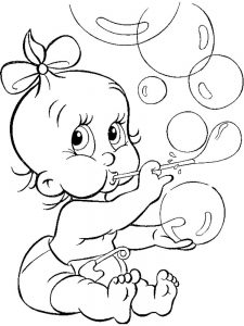 welcome baby boy coloring pages
