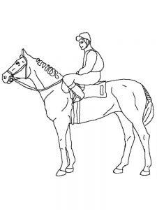 wild horse coloring page print