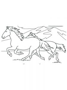 wild horse coloring pages image