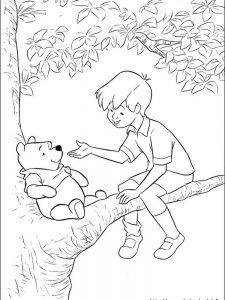 winnie the pooh alphabet coloring pages