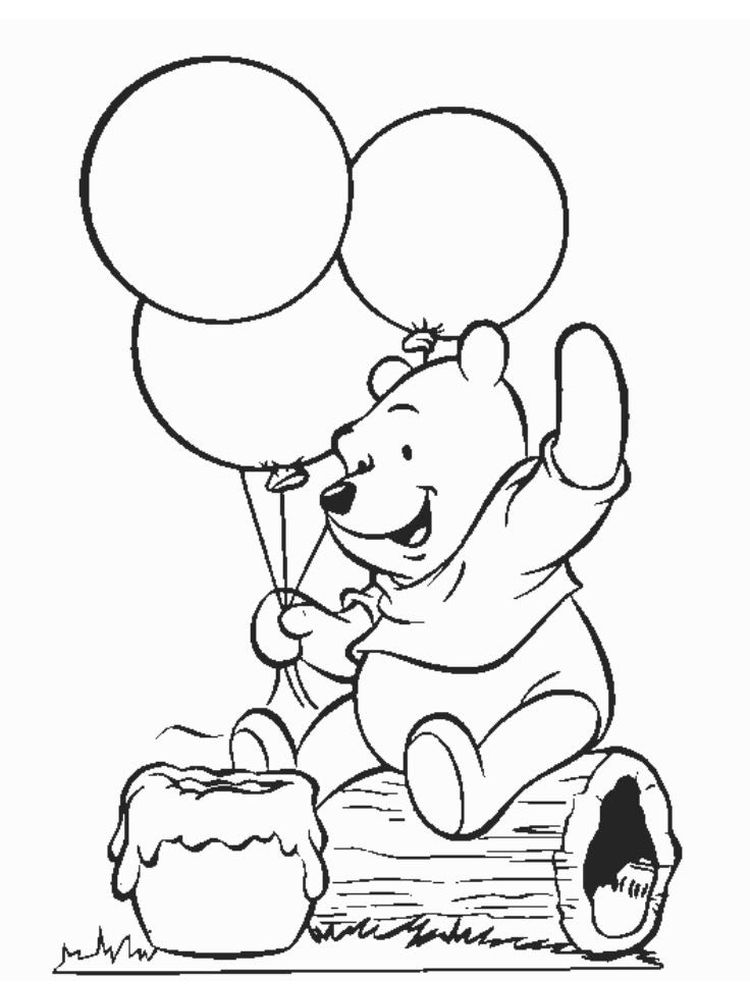 winnie the pooh as a baby coloring pages