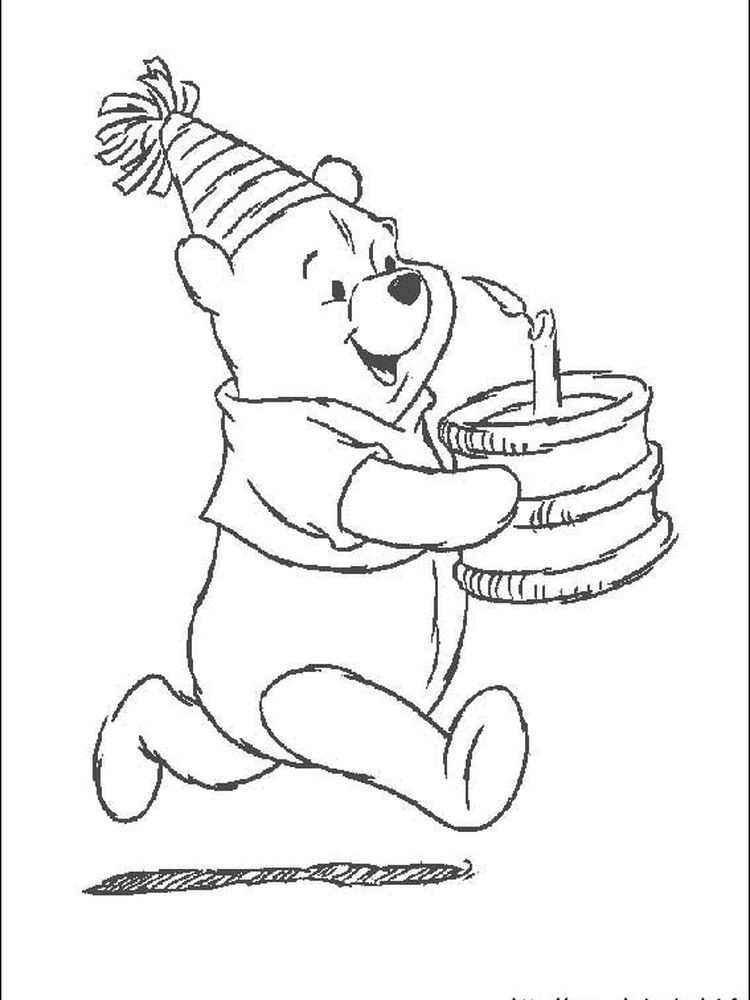 winnie the pooh coloring pages birthday