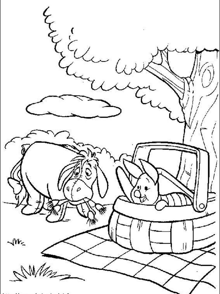 winnie the pooh coloring pages online free