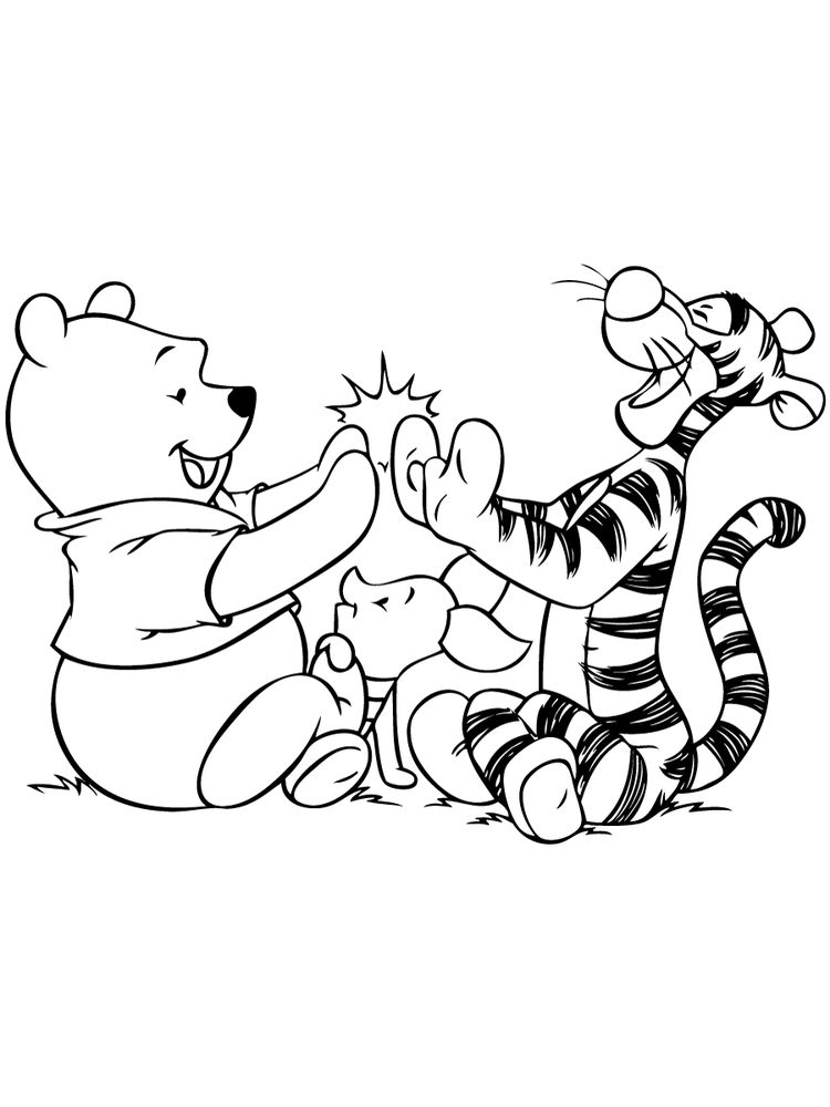 winnie the pooh coloring pages pdf in color