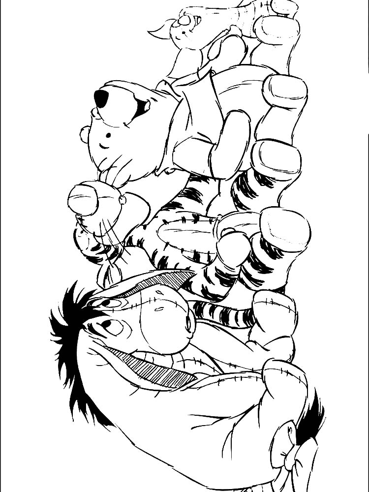 winnie the pooh coloring pages with quotes