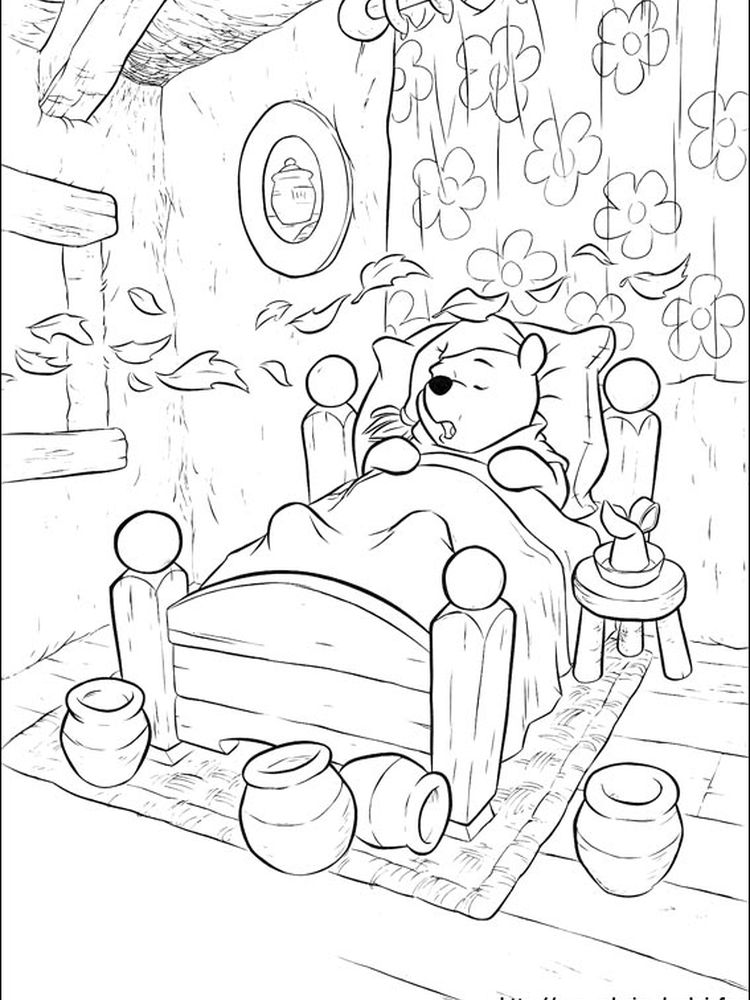 winnie the pooh free printable coloring pages