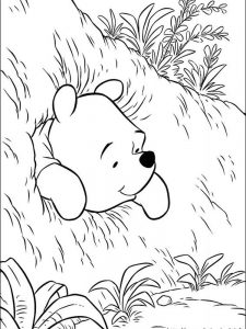 winnie the pooh valentines coloring pages