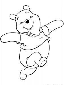winnie the pooh winter coloring pages