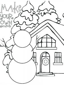 winter coloring pages for middle school
