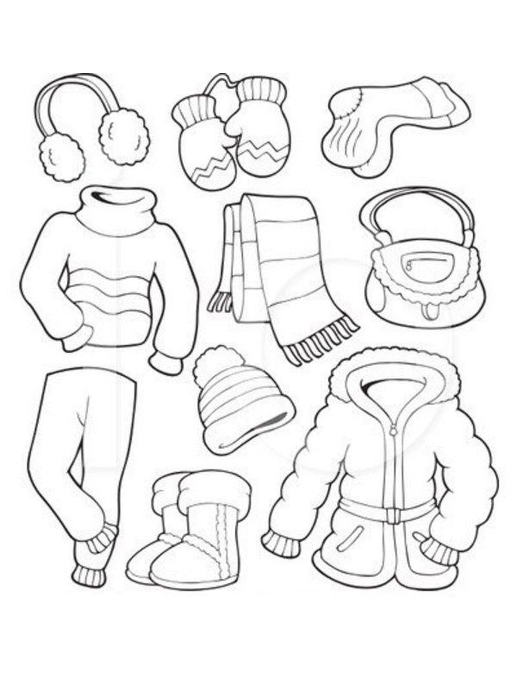 winter coloring pages for preschoolers
