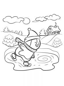 winter coloring pages free
