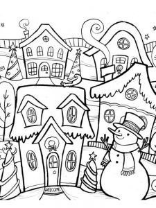 winter coloring pages kids