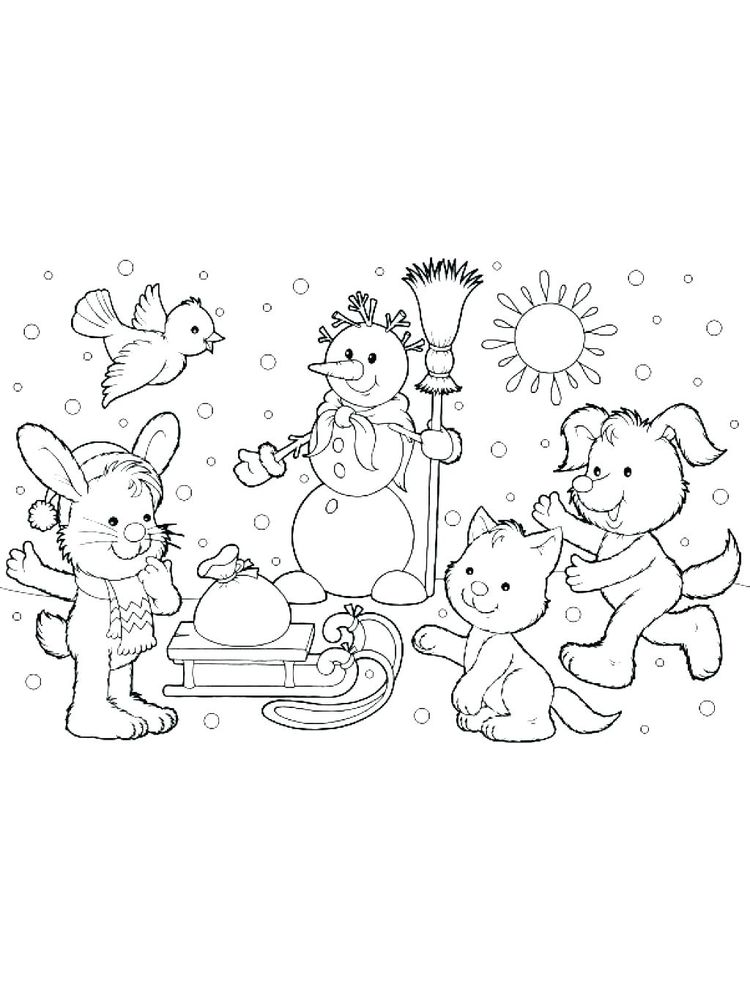 winter coloring pages online