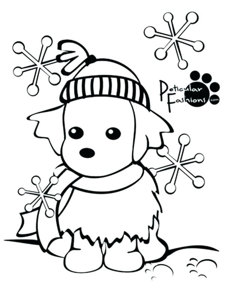 winter coloring pages preschool