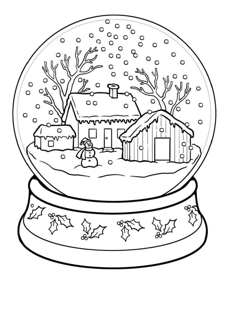 winter coloring pages printable free