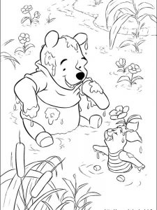 winter winnie the pooh coloring pages