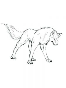 wolves coloring pages download