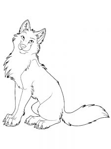 wolves coloring pages print