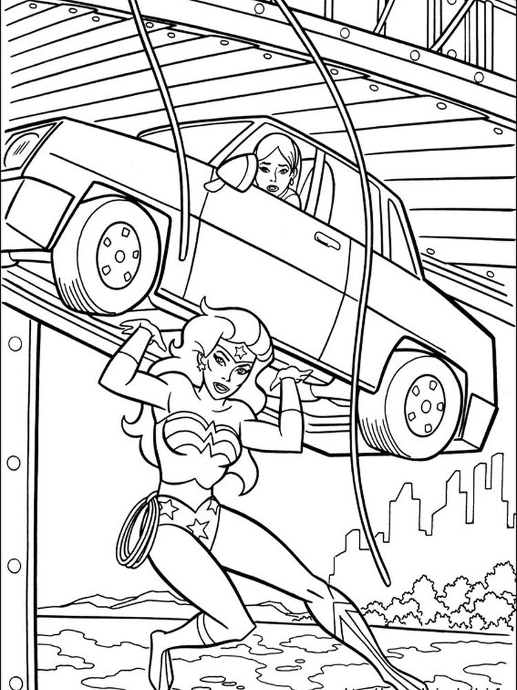 wonder woman coloring pages advanced