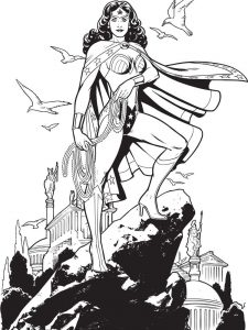 wonder woman coloring pages cartoon