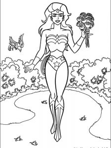 wonder woman coloring pages easy