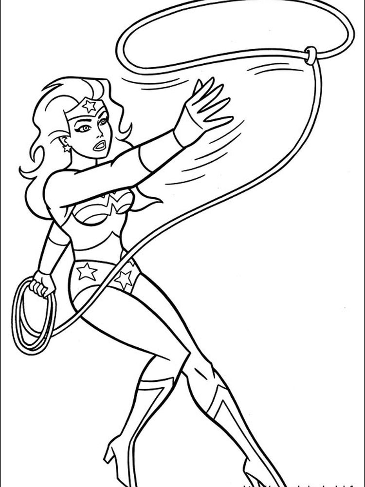 wonder woman coloring pages for girls