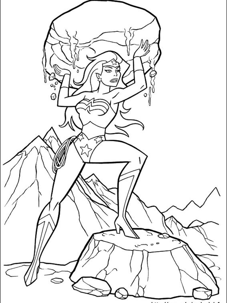 wonder woman coloring pages free