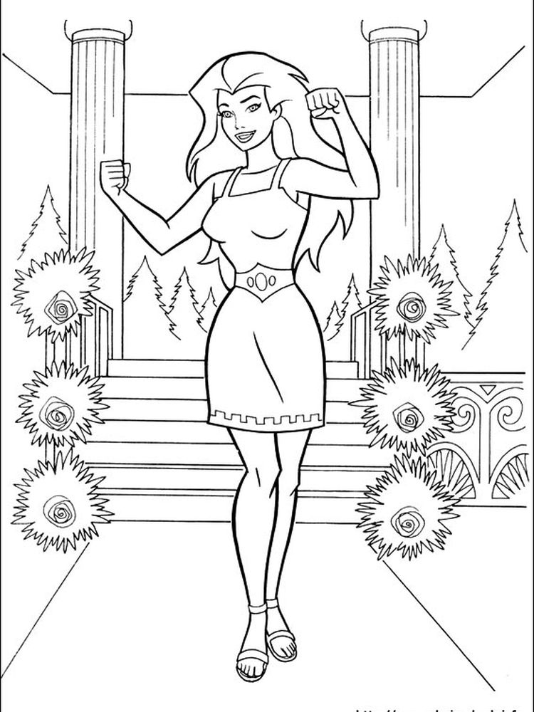 wonder woman printable coloring pages